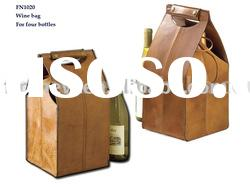 Leather Wine Carrier, Wine Box, Wine Holder, Wine Case, Leather Box