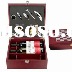 MDF wooden wine box with accessories & chess