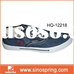 Men's fashion casual shoes with jeans upper