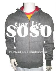Men's heavy polyester cotton dark health gray YKK Zipper-up hoodies & sweatshirt