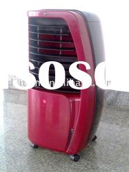 Mobile air cooler with water