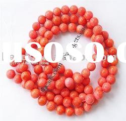 Natural Sponge Coral Beads, Round, 12mm