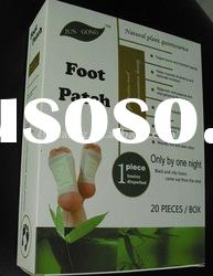 Natural plant quintessence foot patch detox foot patch bamboo vinegar patch