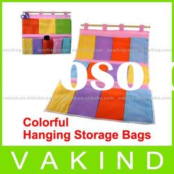 New Wall Door Cloth Colorful Hanging Storage Bags Case Pocket Home Organization
