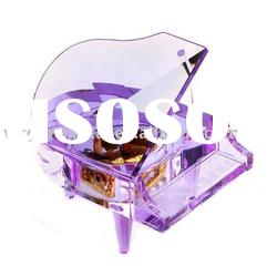 Optical Purple Crystal Piano Music Box Wedding Gifts