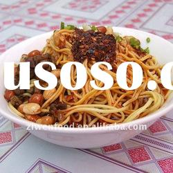 Oriental cuisine soup fried rice noodles