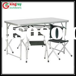 Picnic camping folding table and chairs set
