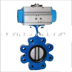 Pneumatic actuator operated Lug butterfly Valve