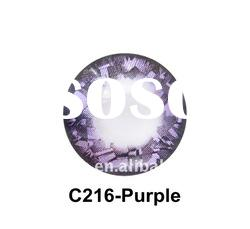Purple color wild eyes contact lenses model C216-Purple