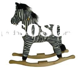 Rocking zebra,Plush Rocking Horse,rocking horses,plush rocker,rocking animal toy