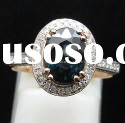 SOLID 14ct Rose GOLD NATURAL BLUE SAPPHIRE & DIAMOND RING Settings