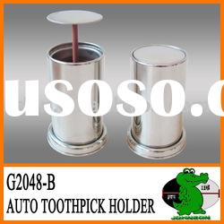 Stainless Steel Automatic Toothpick Holder