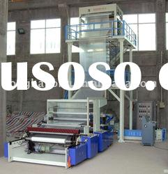 Three-layer Co-extrusion LDPE/HDPE Plastic Film Extruder & Film Blowing Machine