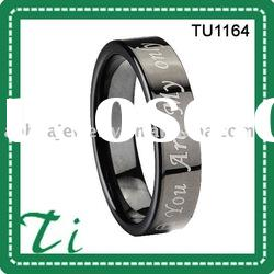 Unique design TU1164 black wedding rings