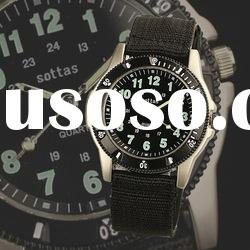 WM086 Swiss Design New Mens Black Dial Fabric Strap Outdoor Military Army Watch