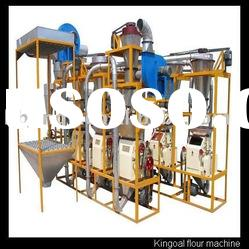 Whole small scale food processing machines for making wheat flour