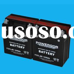 YTX7L-BS Maintance free motorcycle battery 12V 6AH