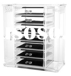 acrylic jewelry organizer with drawer