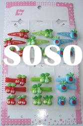 baby hair accessories set with heart design