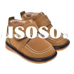 boy style baby shoes squeaky footwear boots MMS-W-1002-D YE