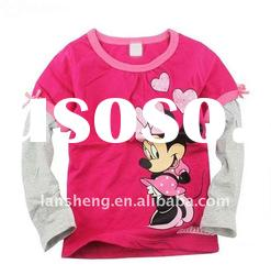 children t-shirt, kids wear clothing, long sleeve t-shirt for girl