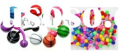 high quality acrylic logo belly button jewelry navel body ring