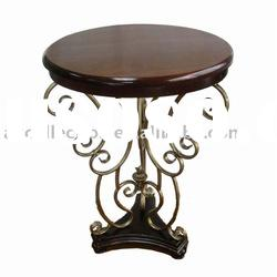 home decor, Coffee Table with MDF Top and Metal Base, in Mahogany and Antique Finish