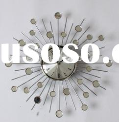 modern home decorative mirror wall clock