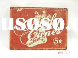 old fashion/exterior wall signs/metal signs/vintage metal wall plaque/iron Coca Cola signs
