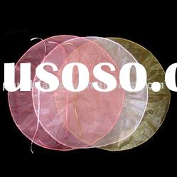 organza fabric circles with satin ribbon