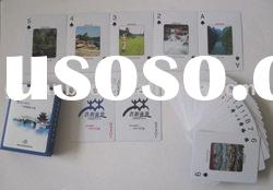 paper deck cards, tourism playing cards/poker