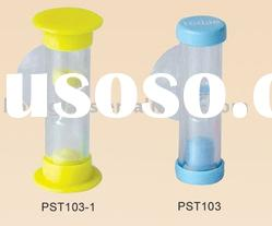 plastic sand timer, plastic hourglass, shower sand watch