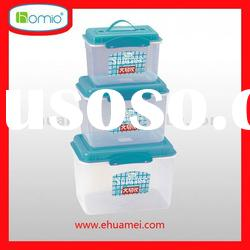 plastic storage box with handle