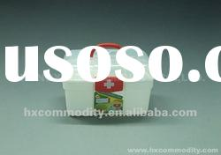 plastic storage box with inner tray and lock