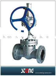 resilient seal gate valve(gear operated gate valve,steel flange gate valve)