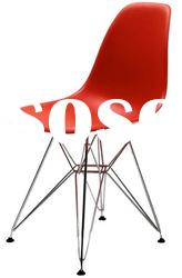 restaurant hotel plastic eiffel chair in red-knockdown system