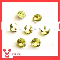 round point back acrylic rhinestone for garments/hats/shoes/jewelry