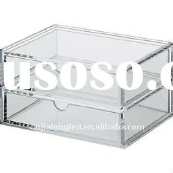 stackable acrylic storage box or acrylic drawer with 2 drawers