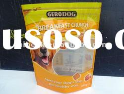 stand up pet dog food packaging bag with zip on top