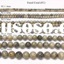 wholesale fashion fossil coral gemstone beads