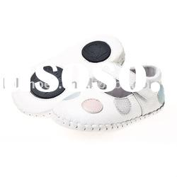 2011 fashionable girl soft soled baby dress shoes LBL-BB9001WH