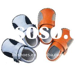 2011 latest design soft leather baby shoes for boys