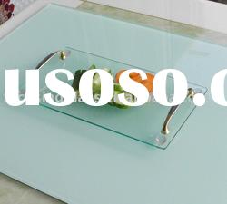 30x16cm with beautiful and comfortable handle tempered glass cutting board