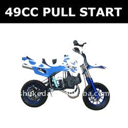 49CC pull start mini motorcycle, forced air-cooled dirt bike