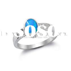 925 sterling silver ring with opal stone,highly polished,unique design,wholesale price