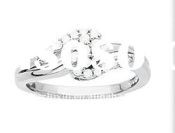 Fashion Girls Ring In 18K White Gold With Diamonds Jewellery Wedding Rings