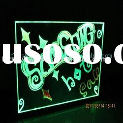 Fluorescent LED writing board for kids drawing 2011 alibaba express hot selling product