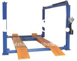 Four post hydraulic auto lift with rolling jack