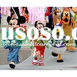 Japan mickey mouse and mimmie mouse and donald duck mascot costume