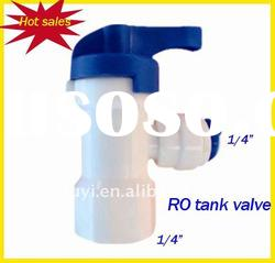 Plastic mini quick connector ro water system tank ball valve